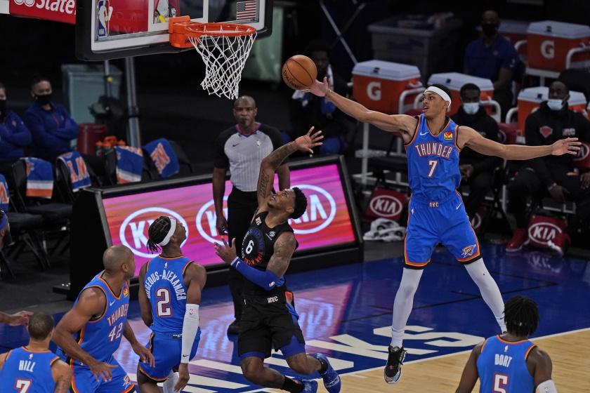 Oklahoma City Thunder at New York Knick